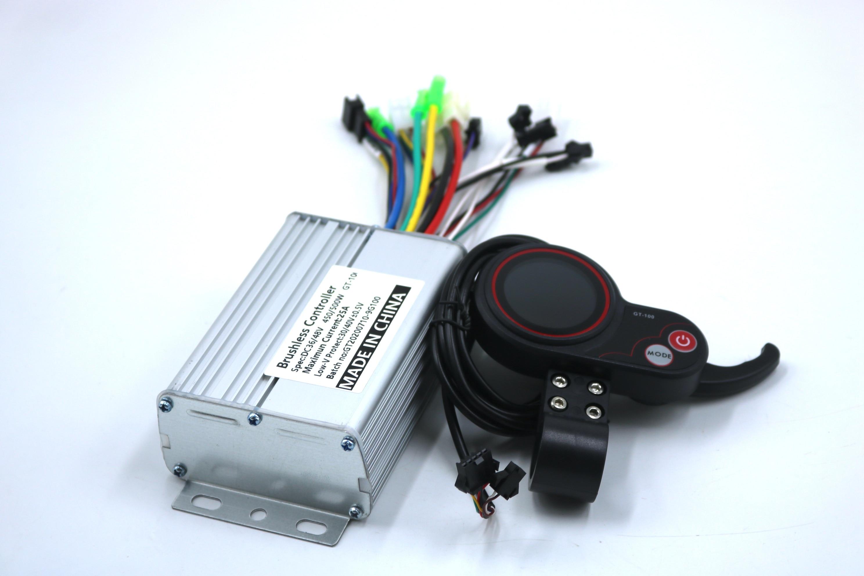 9MOSFET GREENTIME 36 فولت/48 فولت 450/500 واط BLDC سكوتر كهربائي تحكم E-الدراجة فرش سرعة سائق و GT-100 شاشة الكريستال السائل مجموعة واحدة