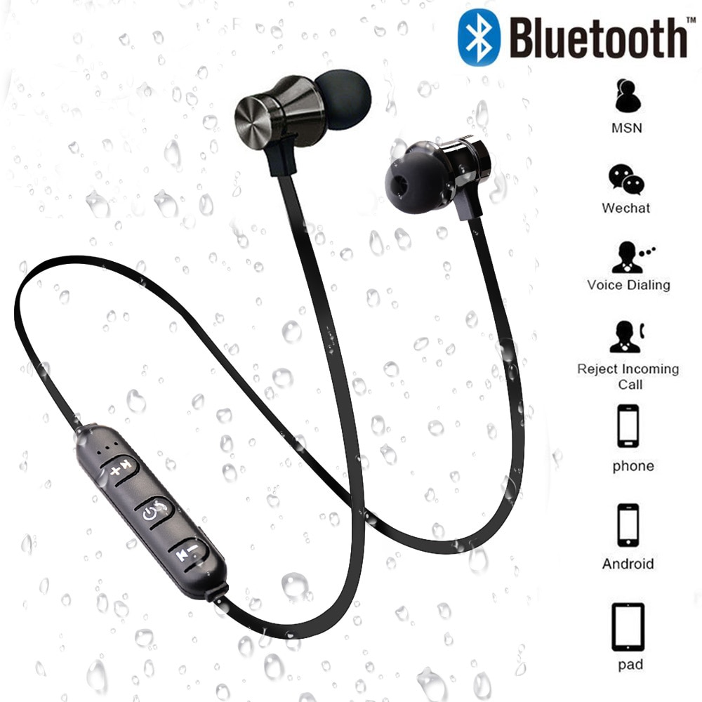 Bluetooth Earphones wireless head phone stereo magnetic music handsfree headsets for iphone 11 samsu