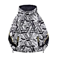 tide brand casual loose large size jacket japanese fashion top hip hop print spring and autumn clothes windbreaker jacket