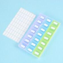Boîte détiquettes pour le stockage de peinture diamant, boîte de 640 pièces, étiquettes vierges, Classification et outil de broderie