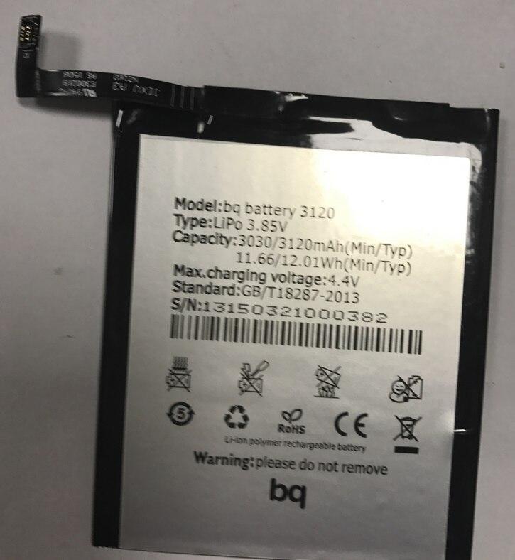 Batería para teléfono BQ Aquaris M5, 3120mAh