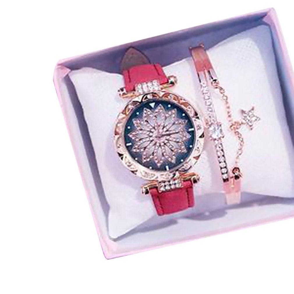 Corriendo el reloj cuando de diamantes completo de tendencia de moda impermeable Simple reloj femenino estudiante Ins viento impermeable