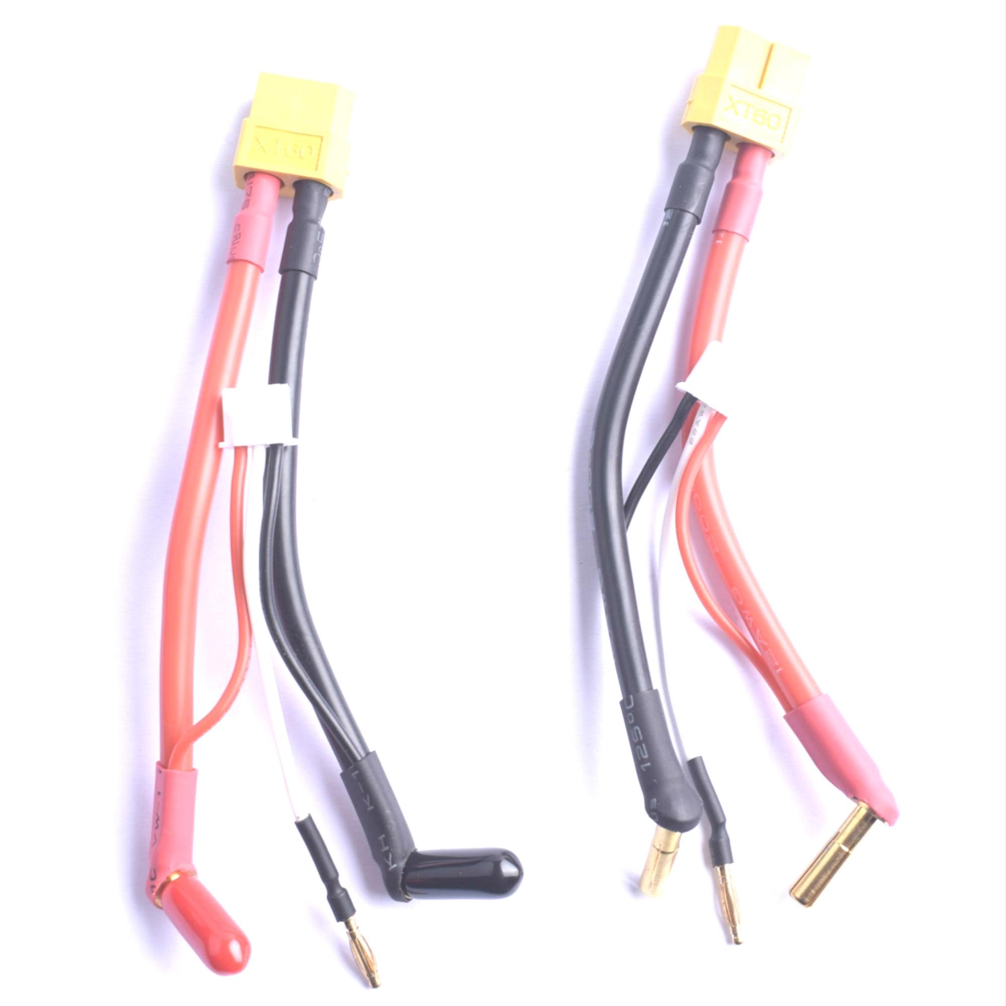 Harness lipo hardcase 2 s jst xh equilíbrio xt60 tamiya deans ec3 ec5hxt traxxas plug a 90 graus 4.0mm conector de bala com capa