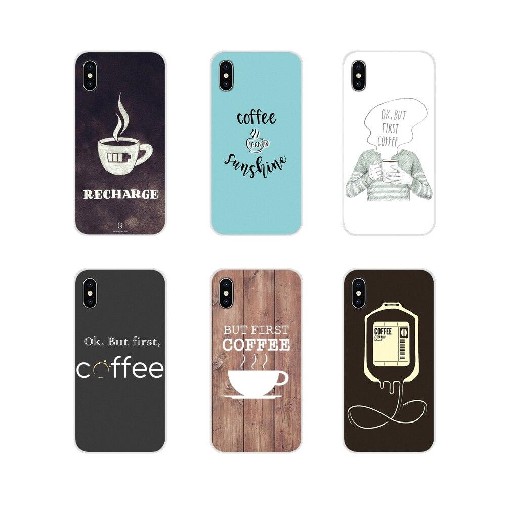 Carcasa de silicona para teléfono móvil para Samsung Galaxy J1 J2 J3 J4 J5 J6 J7 J8 Plus 2018 primer 2015 de 2016 de 2017 Ok pero primero café patrón