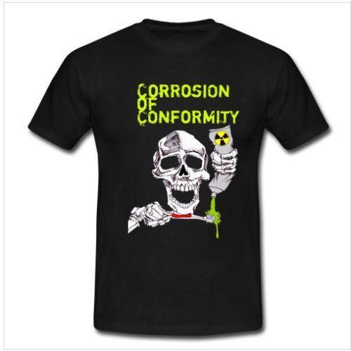 Korrosion der Konformität Konzert Band t-shirt Kurzen Ärmeln Neue Mode T Hemd Männer Kleidung Neueste 2018 Mode