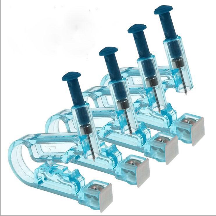 Caliente Asepsis DE SEGURIDAD saludable unidad desechable clavos de perforación de oreja pistola piercing herramienta