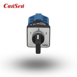 10A 3 Position Rotary Cam Switch 1-0-2 2 Poles 8 Terminals Small Size Elevator Switch