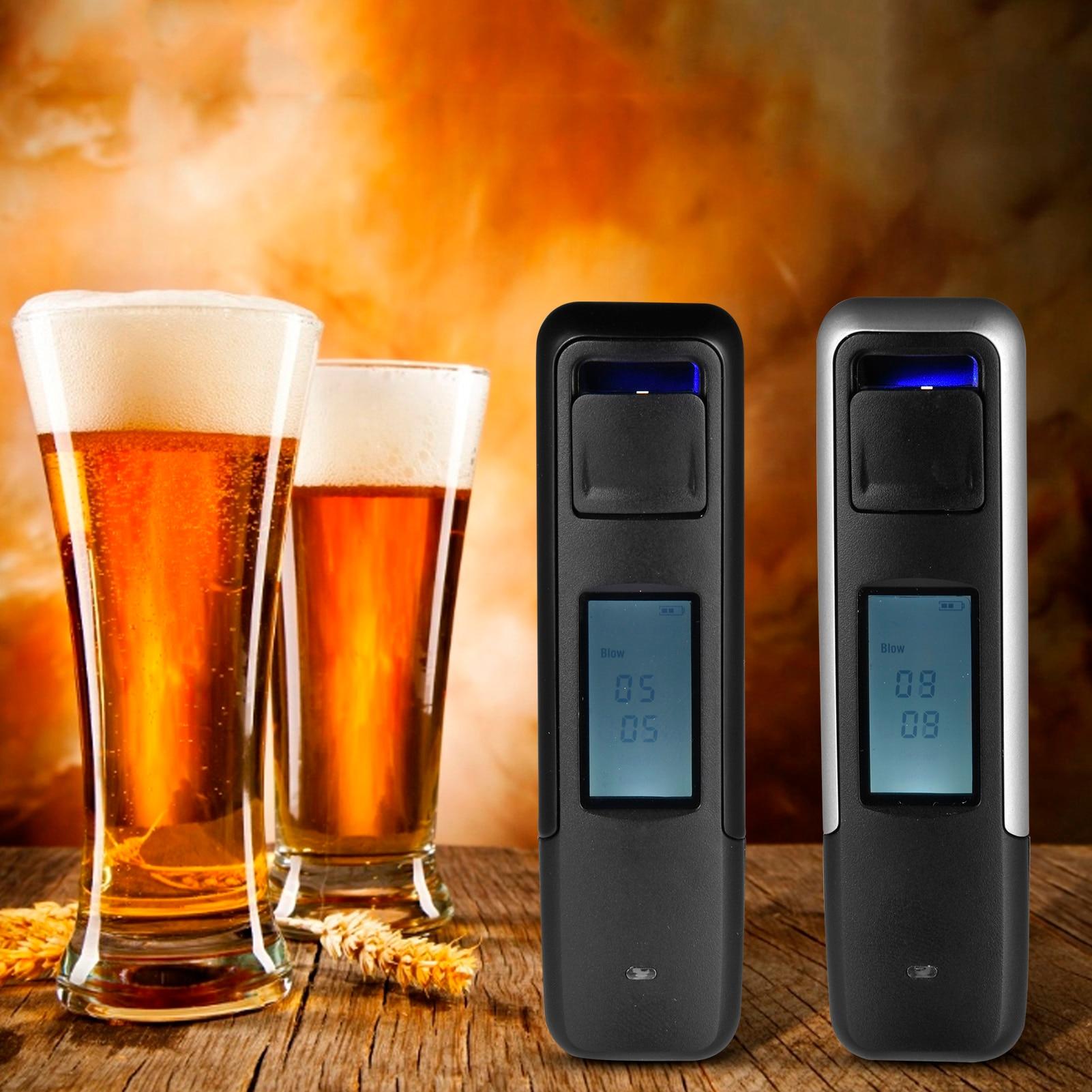 1 шт. AT05 портативный цифровой анализатор дыхания с подсветкой Тестер спирта дыхания анализатор ЖК-дисплей детектор Бесконтактный цифровой ...