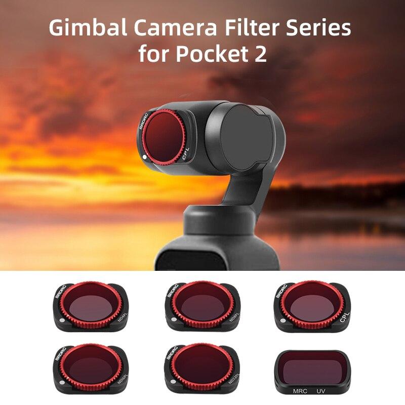 Регулируемый нейтральный светофильтр CPL Для DJI карман 2 Портативный монопод с шарнирным замком Камера фильтр объектива ND4-PL ND8-PL ND16-PL ND32-PL филь...