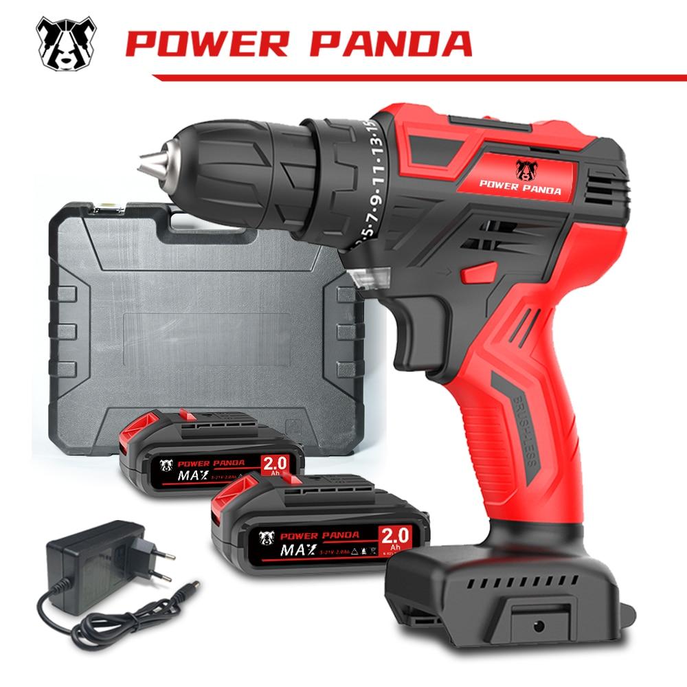 Аккумуляторная дрель-шуруповерт Power Panda, 21 в, литий-ионный аккумулятор, 25 + 1 настройки
