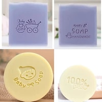 lovely baby soap pattern stamp home cleaning natural seal acrylic transparent soap stamp for diy making chapter tools