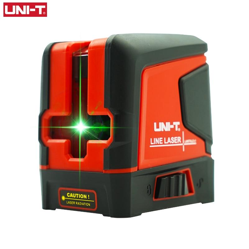 UNI-T LM570LD-II 2 خطوط مستوى الليزر الأخضر شعاع الذاتي الإستواء عمودي أفقي عبر خط تخطيط أداة قياس