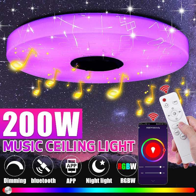 200 واط الحديثة RGB LED مصباح السقف إضاءة المنزل APP WiFi بلوتوث موسيقى خفيفة مصباح غرفة النوم الذكية ضوء السقف التحكم عن بعد