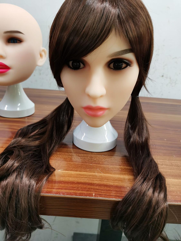 Cabezas de muñeca Real para muñeca sexual, piel natural, cabeza Oral realista de muñeca de amor de silicona, juguete Sexy para adultos TPE para hombres