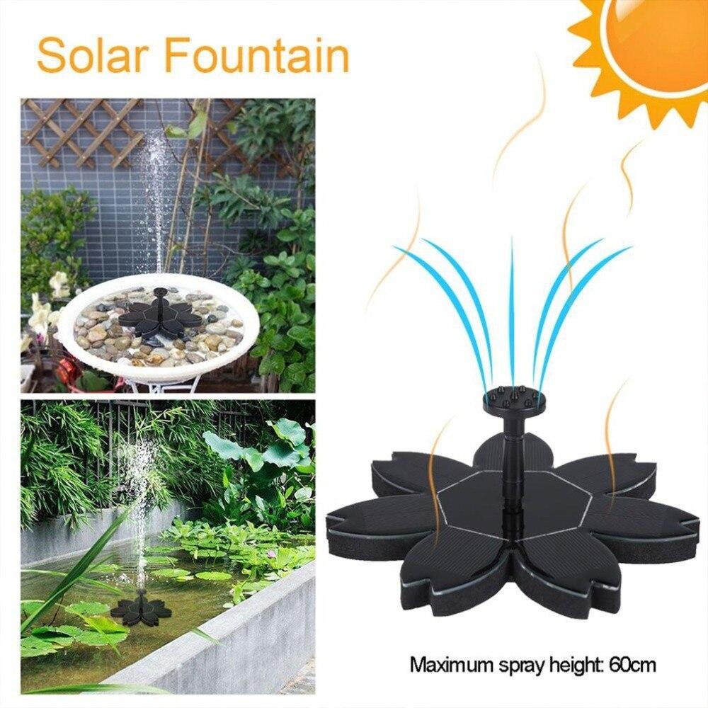 Kit de bomba de fuente de energía Solar inteligente respetuoso con el medio ambiente para la bomba de fuente de agua redonda de riego de estanque de piscina con 4 boquillas