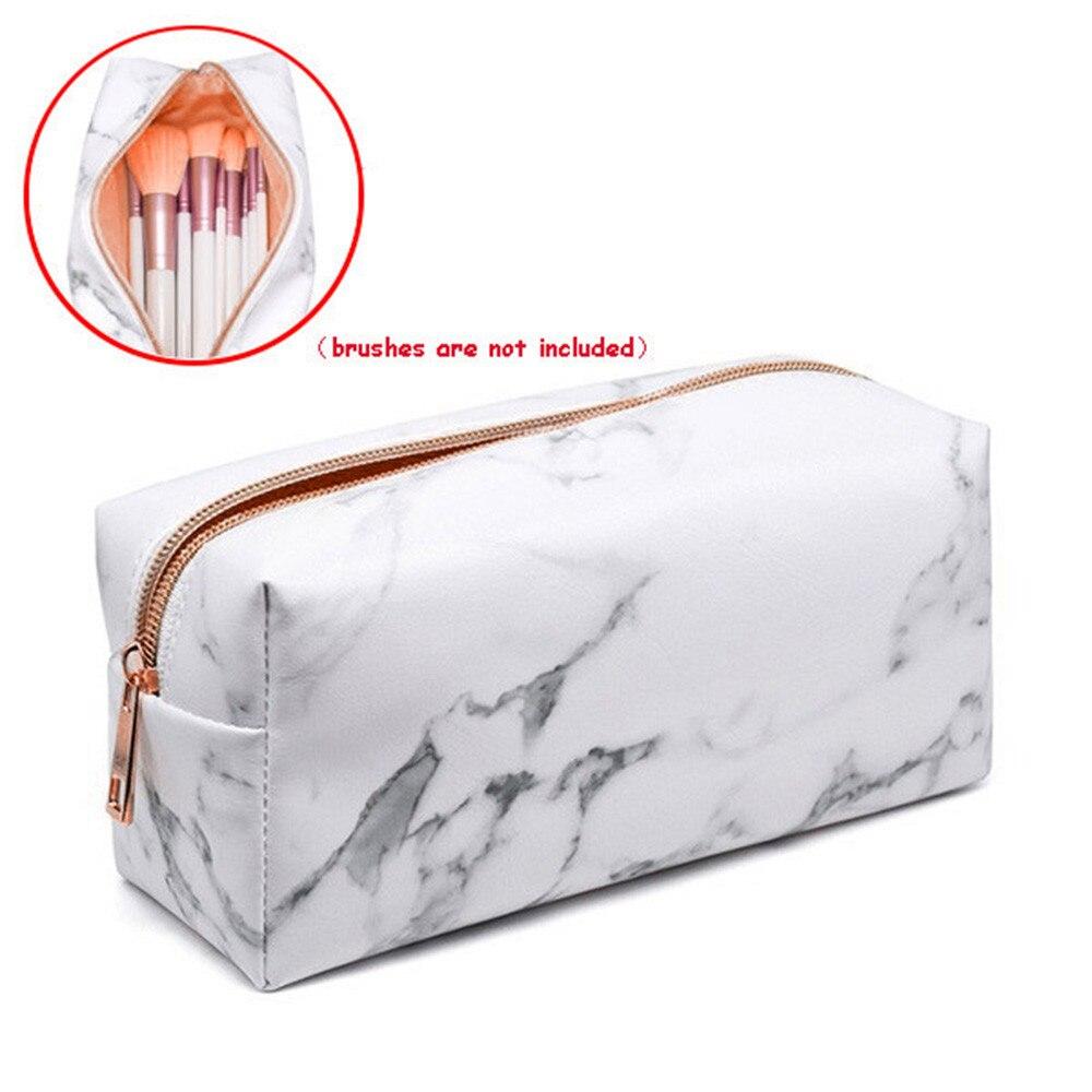 Мраморная женская сумка для макияжа, несессер feminina, переносная сумка для туалетных принадлежностей, косметичка, органайзер, розовое золото, красивый чехол, косметичка