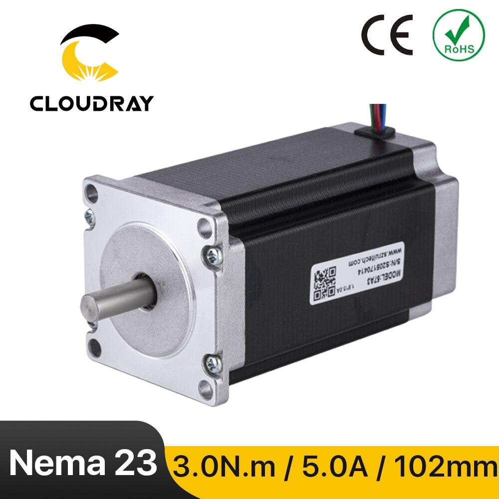 Nema23 محرك متدرج 57 مللي متر 2 المرحلة 300Ncm 5A محرك متدرج 4-كابل رصاص ل 3D طابعة CNC آلة نقش بالحفر