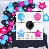 56pcs happy birthday supplies black blue pink latex balloons star helium balloon for kids adult birthday party decors air globos