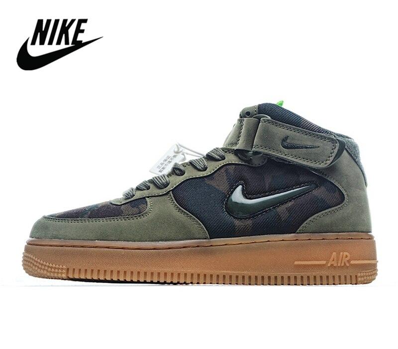 Zapatillas Nike Air Force 1 Mid Jewel Camo Velcro para hombre, Camo verde militar 40-45 AV2586-200