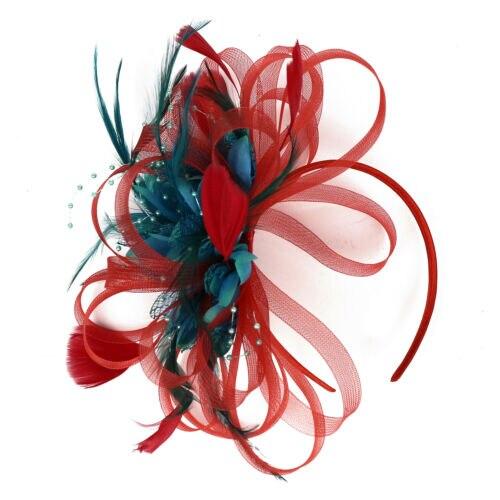 Fashion Women Hair Ribbon Sinamay Fascinator Cocktail Party Hat Wedding Hair Clip Church Kentucky Derby Dress Fedoras