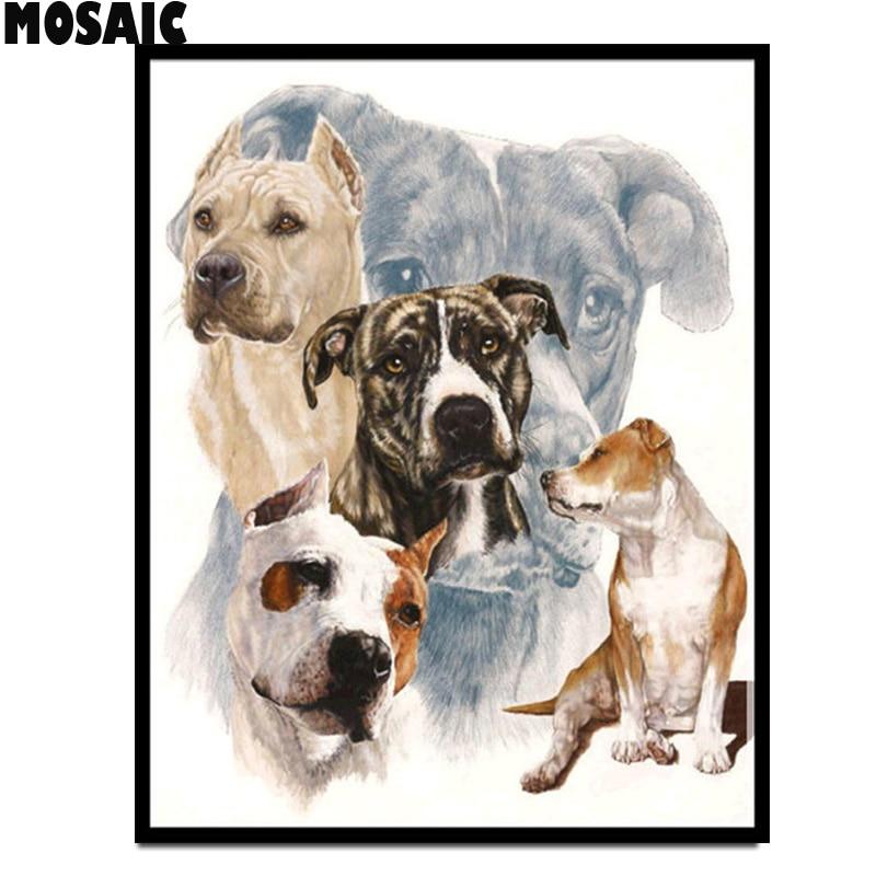"Taladro completo, pintura de diamante DIY 5D Animal, bordado de diamantes, ""perro/mascota/cachorro"", punto de cruz, 3D, venta de accesorios de mosaico de diamantes"