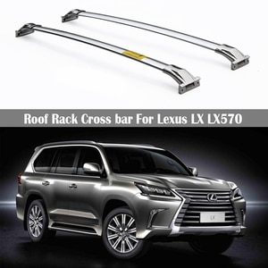 Stainless steel Roof Rack For Lexus LX LX570 2016-2021 Rails Bar Luggage Carrier Bars top Cross bar Rack Rail Boxes