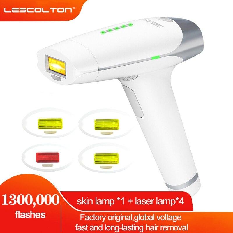 Lescolton IPL آلة لنزع الشعر بالليزر 1300000 البقول إزالة الشعر آلة شاشة الكريستال السائل T009 دائم بيكيني المتقلب الكهربائية Depilador