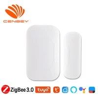 Tuya Zigbee Sensor Door And Window Sensor Magnetic Smart Linkage Phone Remote Wireless Door Sensor Alexa Smartthings Smart Home