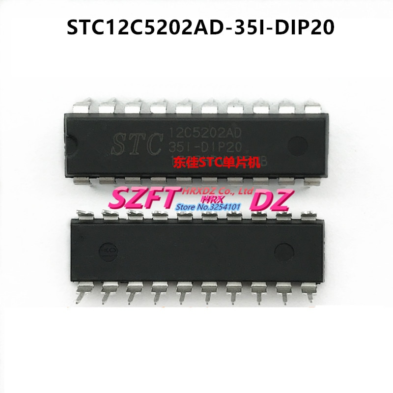 SZFTHRXDZ 100% nuevo original 10 Uds STC12C5202AD-35I-DIP20 STC12C5204AD-35I-DIP20 STC12LE5A60S2-35I-PDIP40