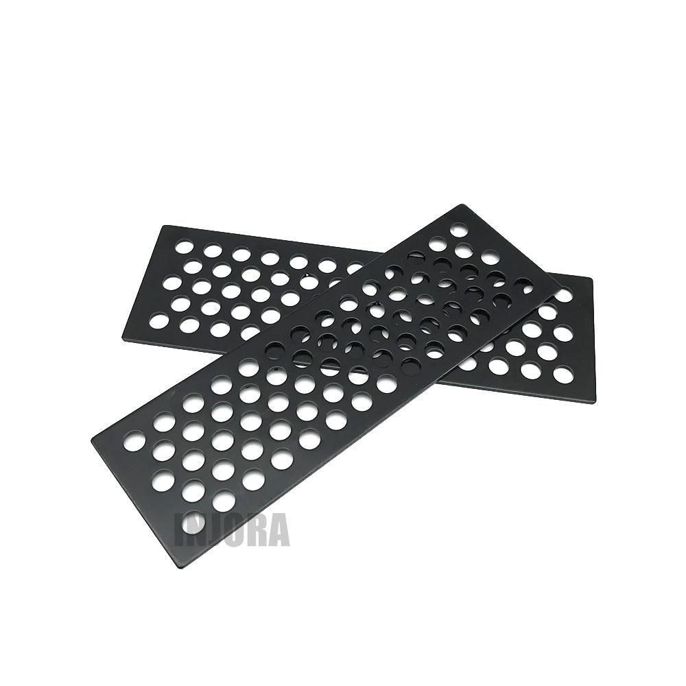 Tablero de recuperación de Metal, escalera de arena para 1/10 RC Crawler Axial SCX10 90046 Tamiya CC01 D90 D110 Traxxas TRX-4 TRX4 2 uds.