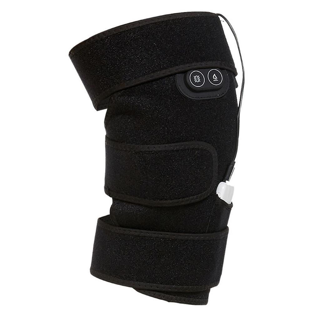 Caliente USB calentado la rodilla Brace arrollamiento recargable almohadilla de calefacción Kneepad de la terapia de dolor de la artritis alivio Brace masajeador eléctrico