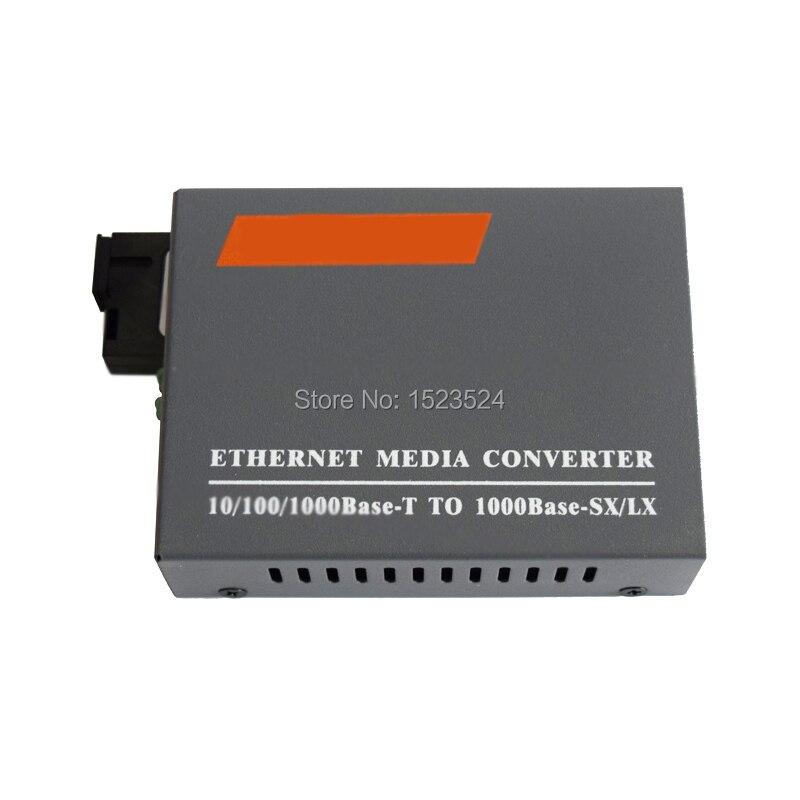 HTB-GS-03 A&B 3pairs Gigabit Fiber Optical Media Converter 1000Mbps Single Mode Single Fiber SC Port External Power Supply enlarge