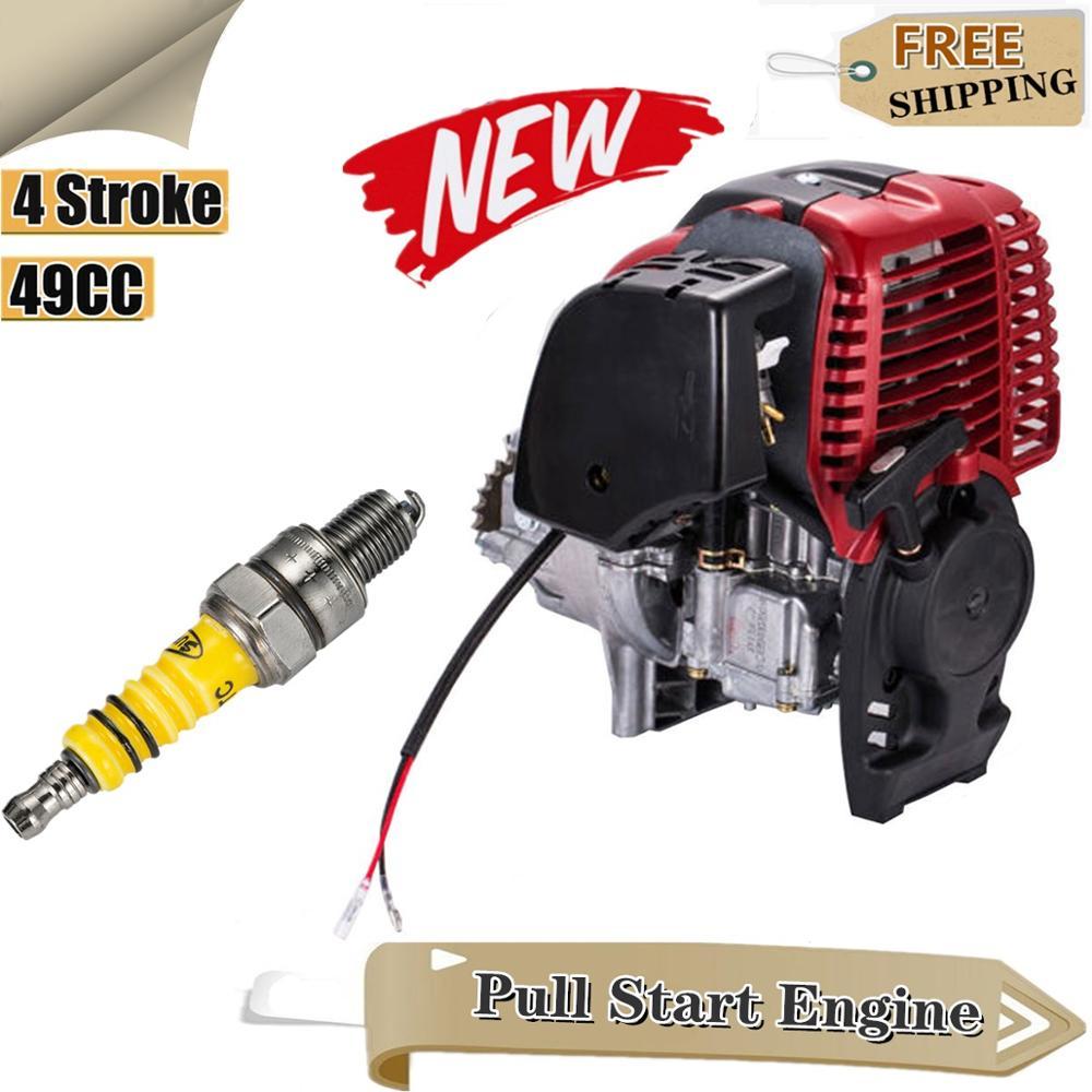 4-Stroke 49CC Complete Engine Motor Kit Pull Start Petrol Motorised for Pocket Mini Motorcycle Dirt Quad Bike Scooter ATV Buggy