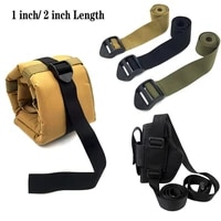 tactical 12 140cm molle backpack strap luggages chest harness strap adjustable release bags strap for pistol gun holster