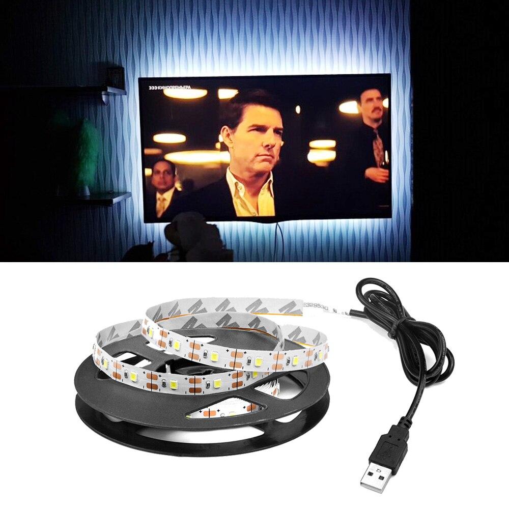 Tira de luz Led USB cinta de retroiluminación tiras led lámpara de cinta de diodo tasma adornos navideños para el hogar tira de ledstrip 5V led para ordenador