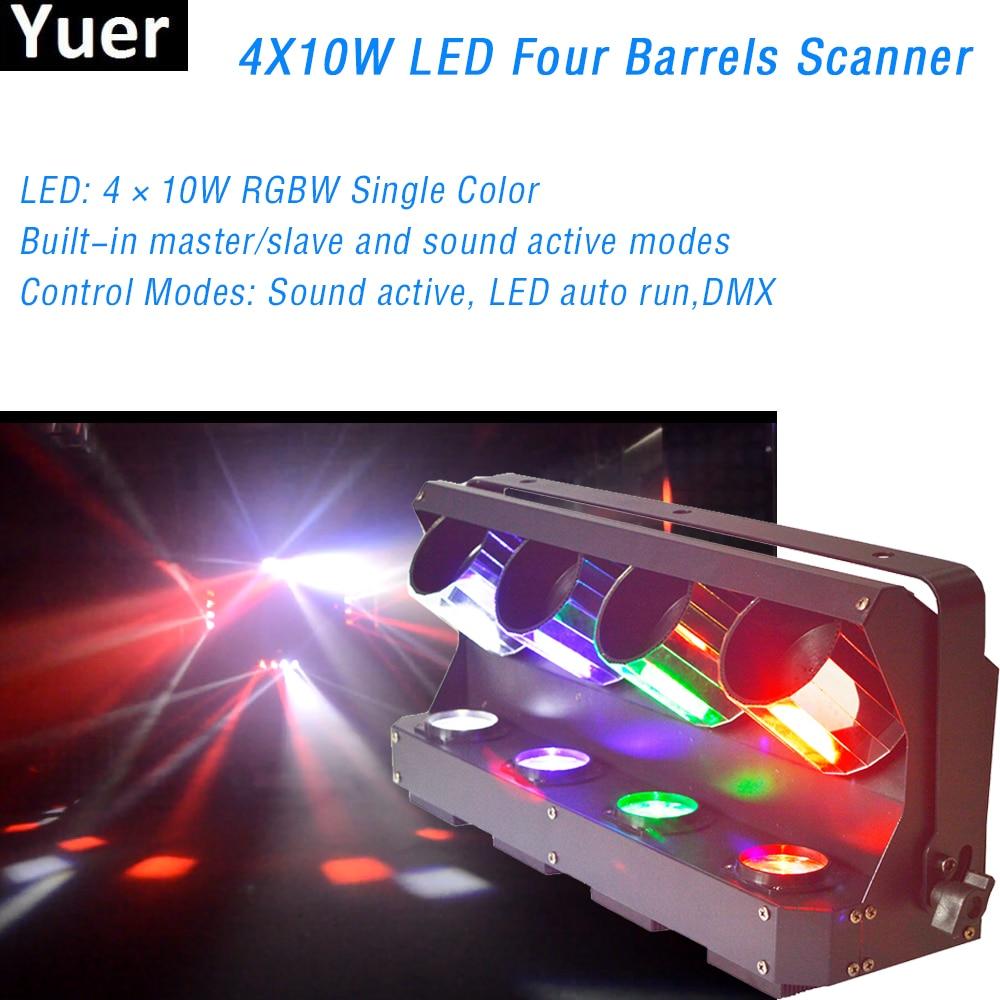 4X10W RGBW 4IN1 LED Four Barrels Scanner Professional Moving Head Light For DJ Disco Wedding Stage Lighting Effect Barrels Light