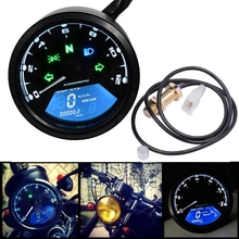 12V Motorrad LCD Digital Tacho 0-12000RPM Kilometerzähler Tachometer-lehre