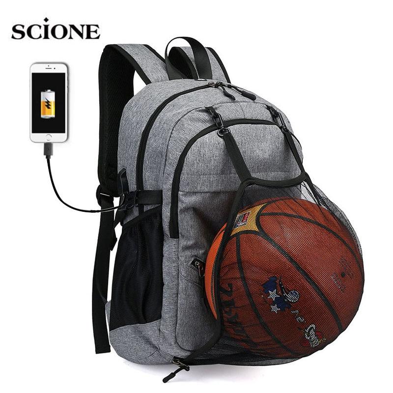 USB كرة السلة على ظهره رياضة اللياقة البدنية حقيبة Sporttas صافي الكرة أكياس للرجال الرياضة كيس دي الرياضة Tas الرجال مدرسة بنين جيم حقيبة XA414WA