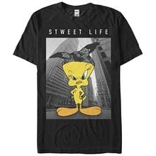 Tops Summer Cool Funny T-shirt Looney Tunes Tweety Bird Sweet Life Mens Graphic T Shirt
