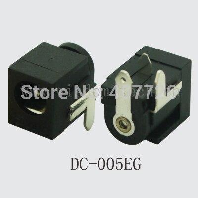 شحن مجاني 100 قطعة/الوحدة DC005EG DC موصل pin2.0/2.5 * O.D.5.5 التوصيل الطاقة جاك DIP 3pin PCB تصاعد