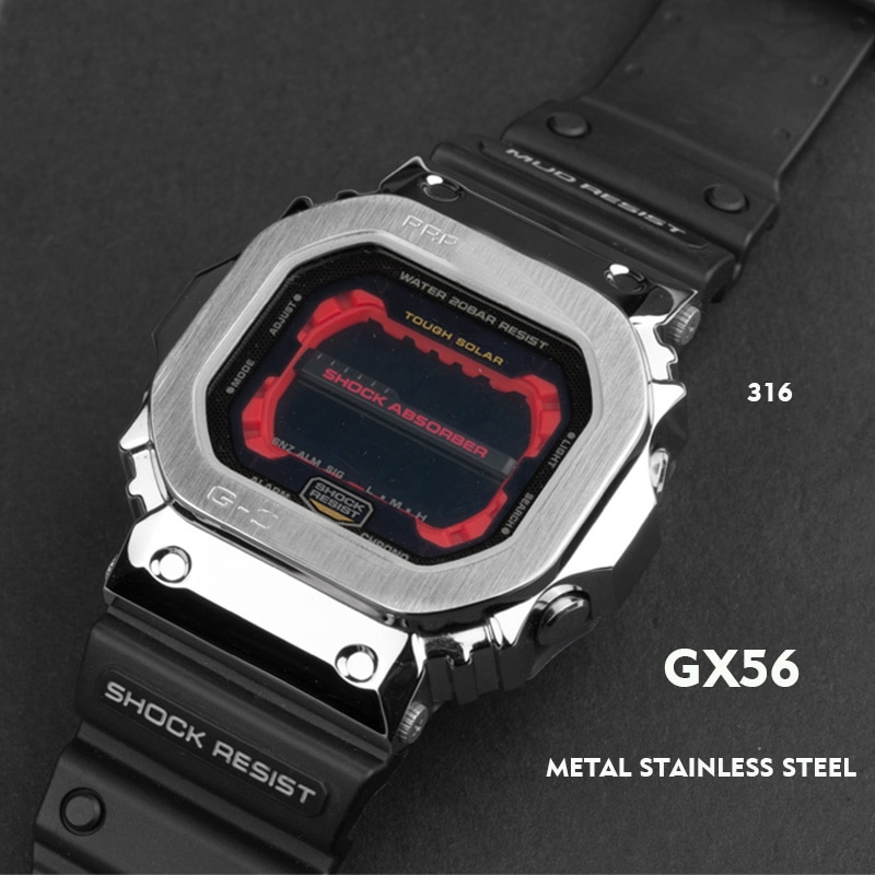 Watchband and bezel belt GX56 GWX56 metal strap bezel Stainless steel tools Case Frame enlarge