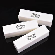 BeautyBigBang 4 pièces ponçage éponge lime à ongles bloc tampon Gel UV vernis à ongles Limas Nail Art manucure blanc tampons à ongles fichier