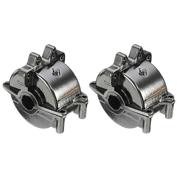 Conjunto de caja de cambios delantera y trasera de aluminio 2 piezas para coche WLt oys 1/18 RC A959 A959B A969 A969-B A979 K929 piezas de mejora negro