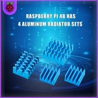 raspberry pi 4 disipador de calor 4 piezas de cobre disipador de refrigeraci%c3%b3n de aluminio radiador ciego radiador de aleta de