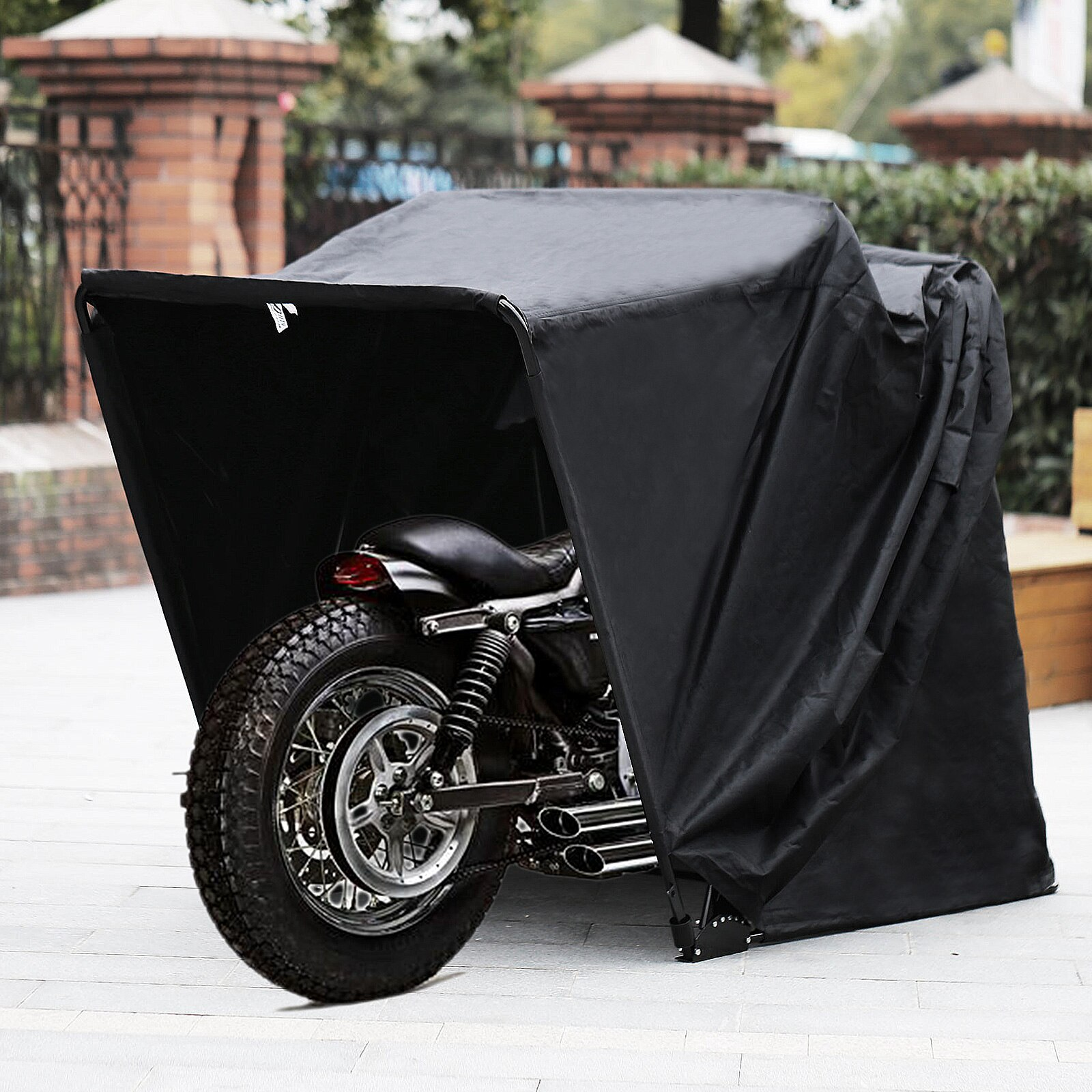 VEVOR مقاوم للماء دراجة نارية المأوى تسليط غطاء إطار قوي المرآب دراجة نارية خيمة سكوتر المأوى المحرك تخزين الغبار غطاء للمطر