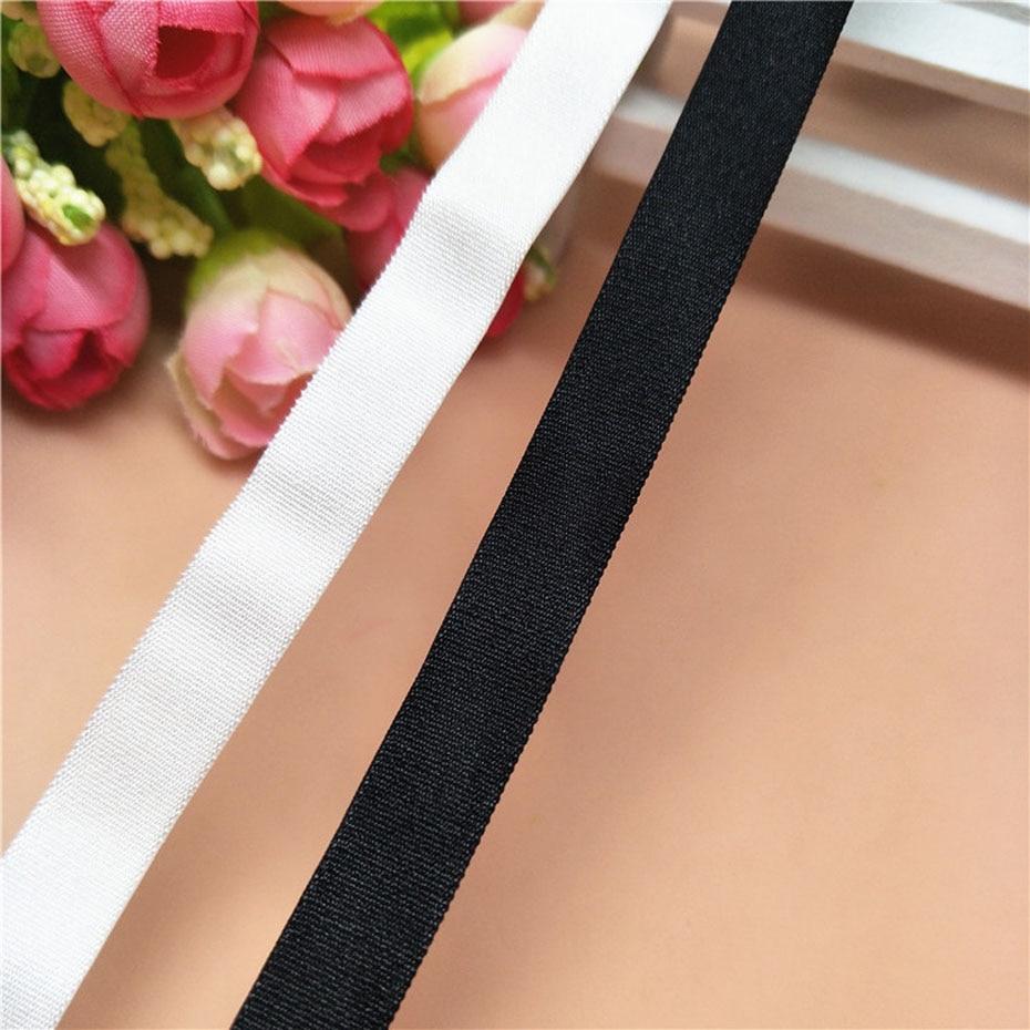 Bracelet élastique ajustable couture pour sous-vêtements   50 Yarsd, bande élastique de 10mm de largeur, pour pantalons de soutien-gorge, bonne qualité, sangle élastique ajustable pour vêtement Double visage
