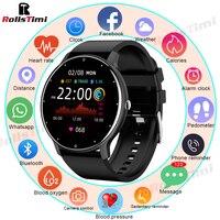 Rollstimi 2021 Дамы Смарт модные часы для мужчин и женщин умный Браслет Bluetooth Вызов спортивный фитнес-трекер часы Водонепроницаемый