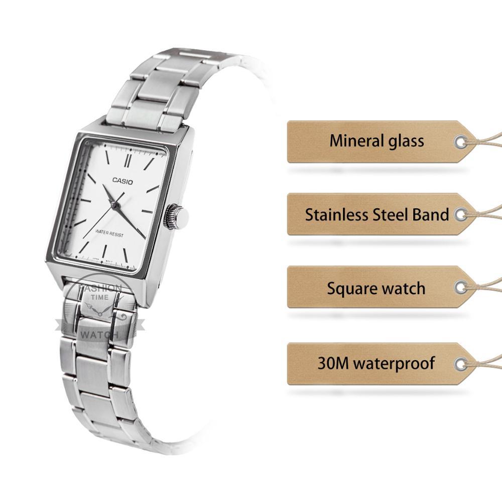 Casio Watch women Luxury Brand Analog Leather Square dial  Women's Wrist Watch Female Quartz Clock Relogio Mulher MTP-V007 enlarge