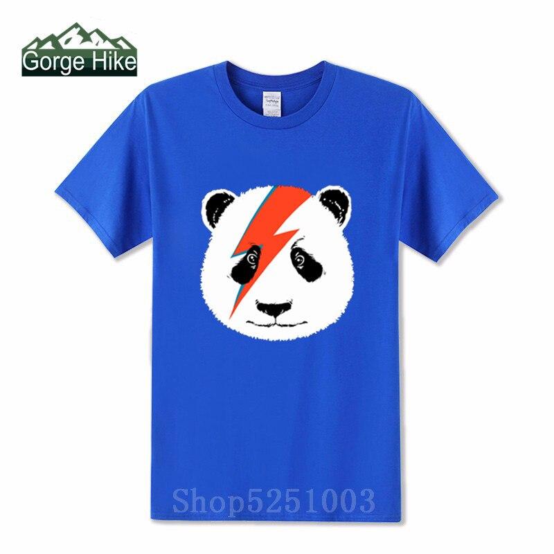 2019 David Panda camisetas verano impreso Camiseta 100% algodón dibujos animados Casual hombres camisa de manga corta Tops Bowie oso rock camiseta