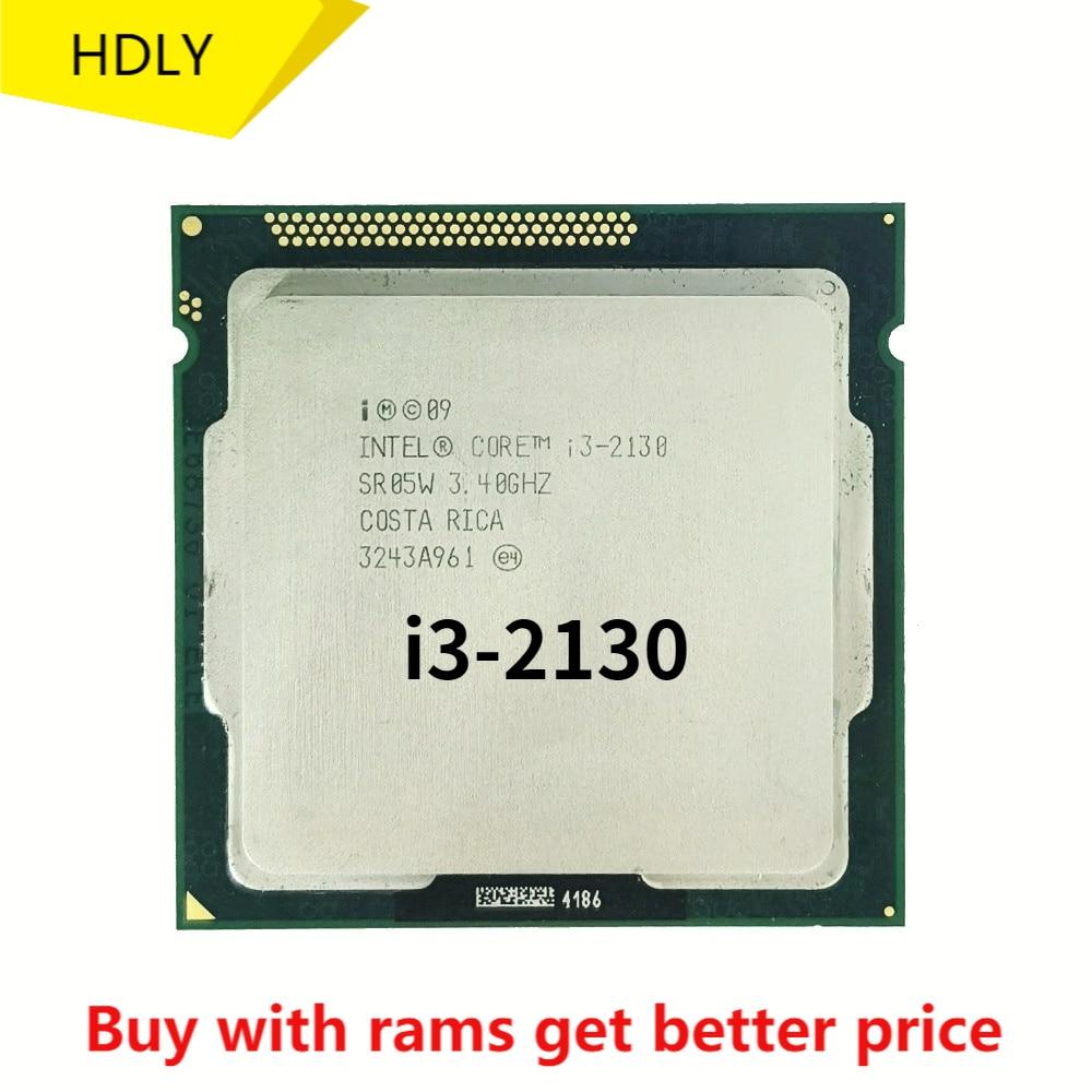 شحن مجاني إنتل كور I3 2130 3M مخبأ 3.4 GHz LGA 1155 TDP 65W سطح المكتب وحدة المعالجة المركزية شحن مجاني متناثرة قطعة المعالج i3-2130
